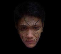 efek wajah retak
