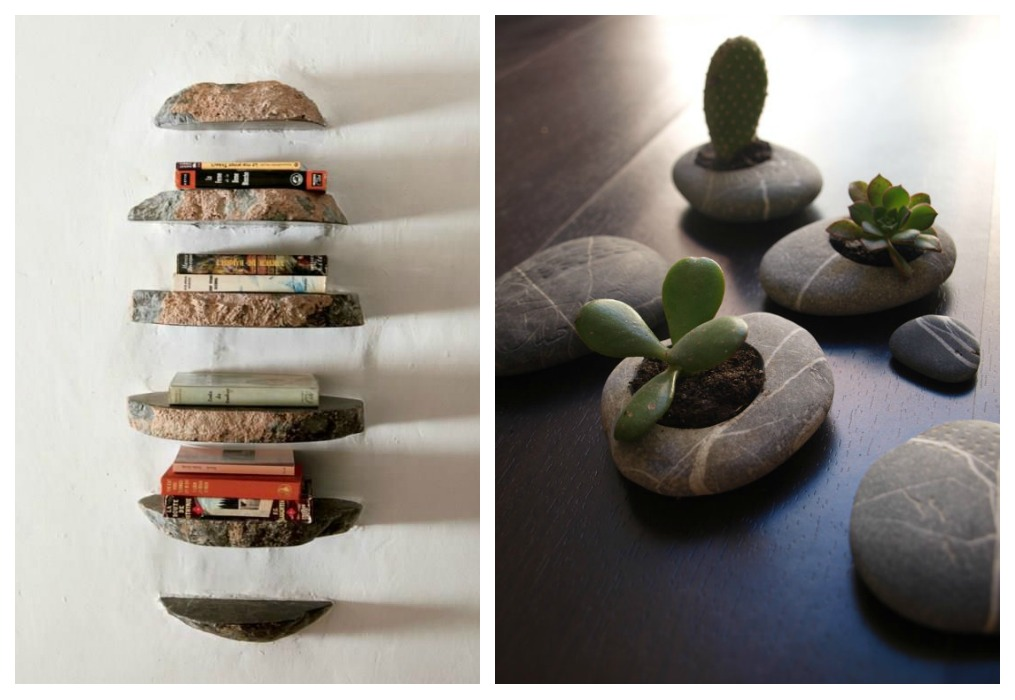Step by step barcelona diy con piedras de playa - Decoracion con piedra ...
