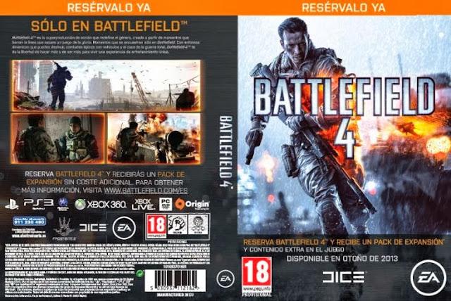 Portada provisional del juego Battlefield 4
