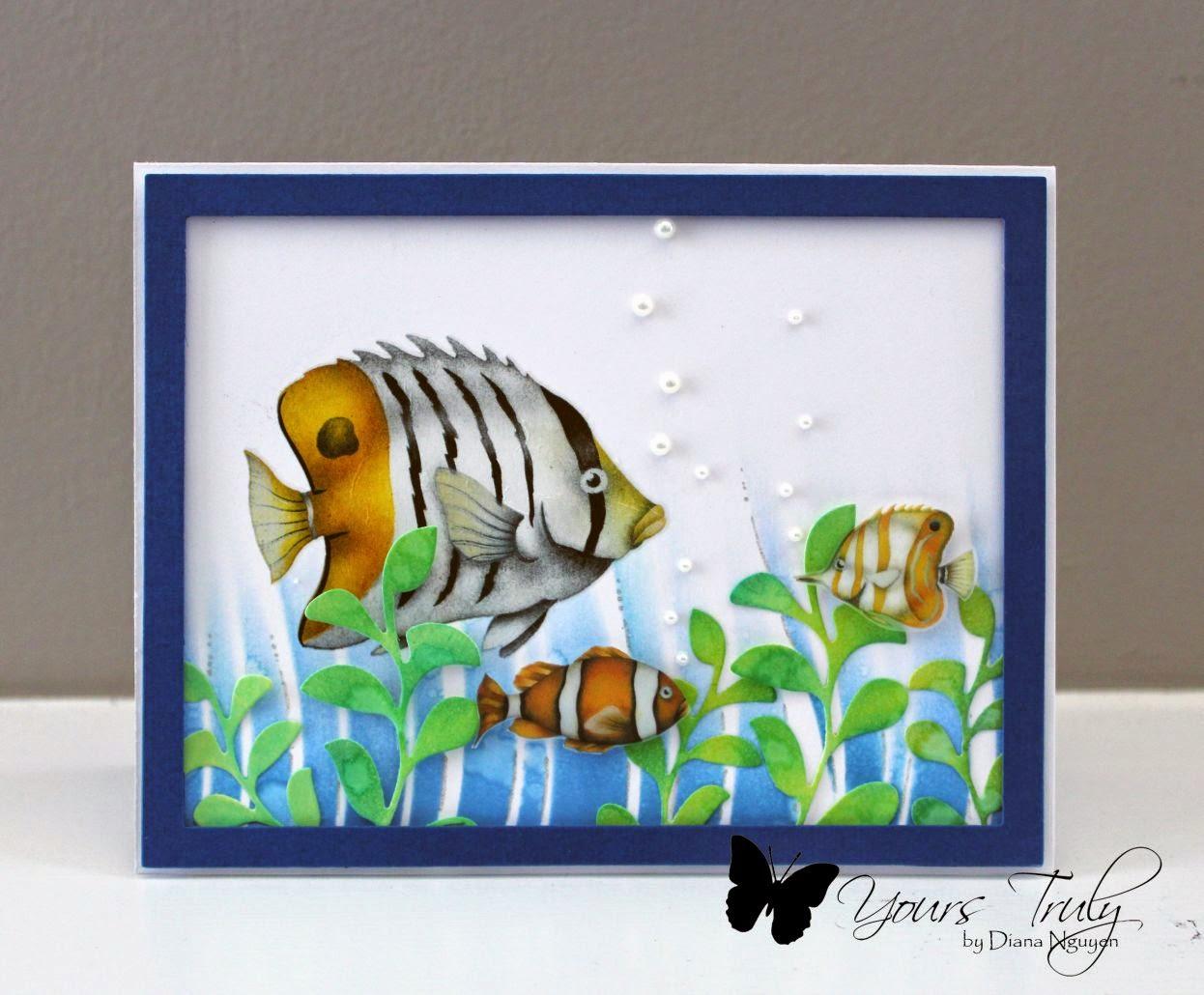 Diana Nguyen, fish, card