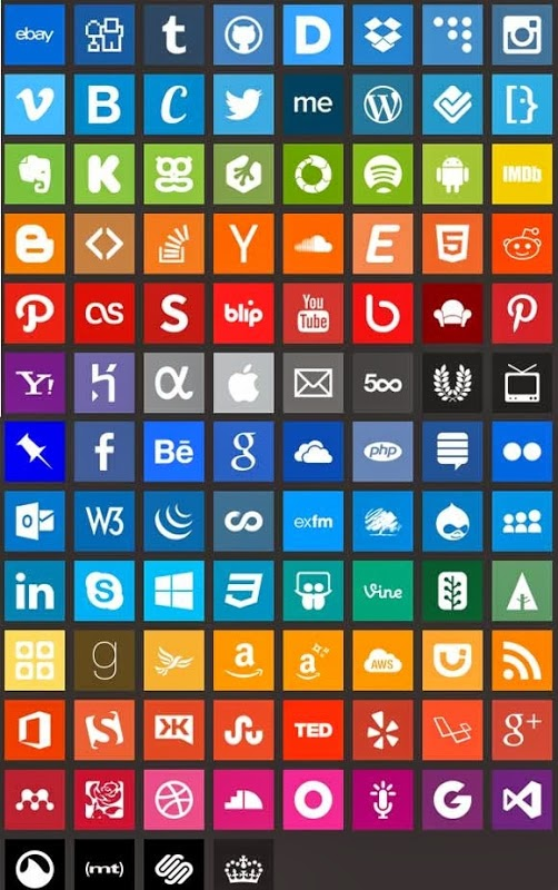 ICONES ESTILO WINDOWS 8 PNG