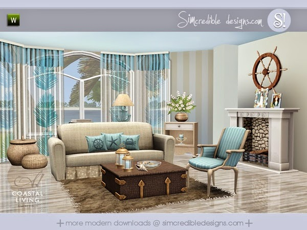 Simcredible Coastal Living Room