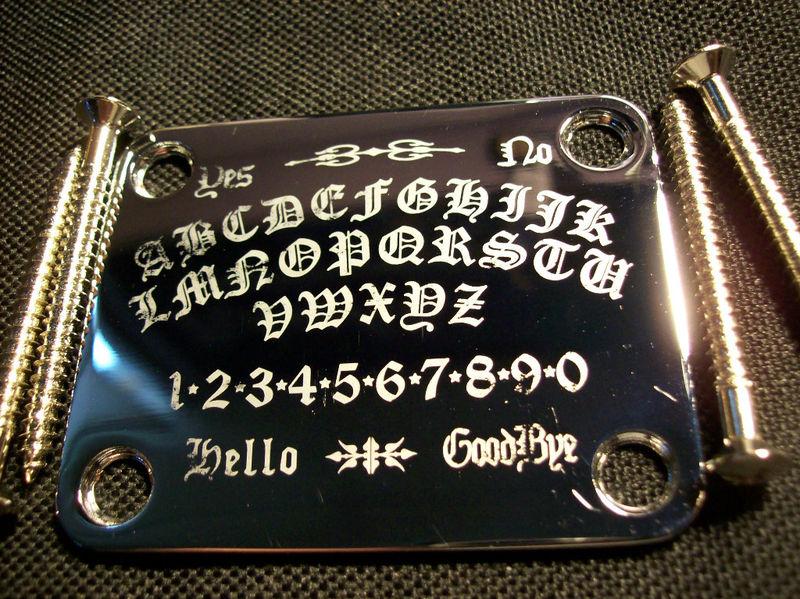 engraved strat  u0026 tele neck plates