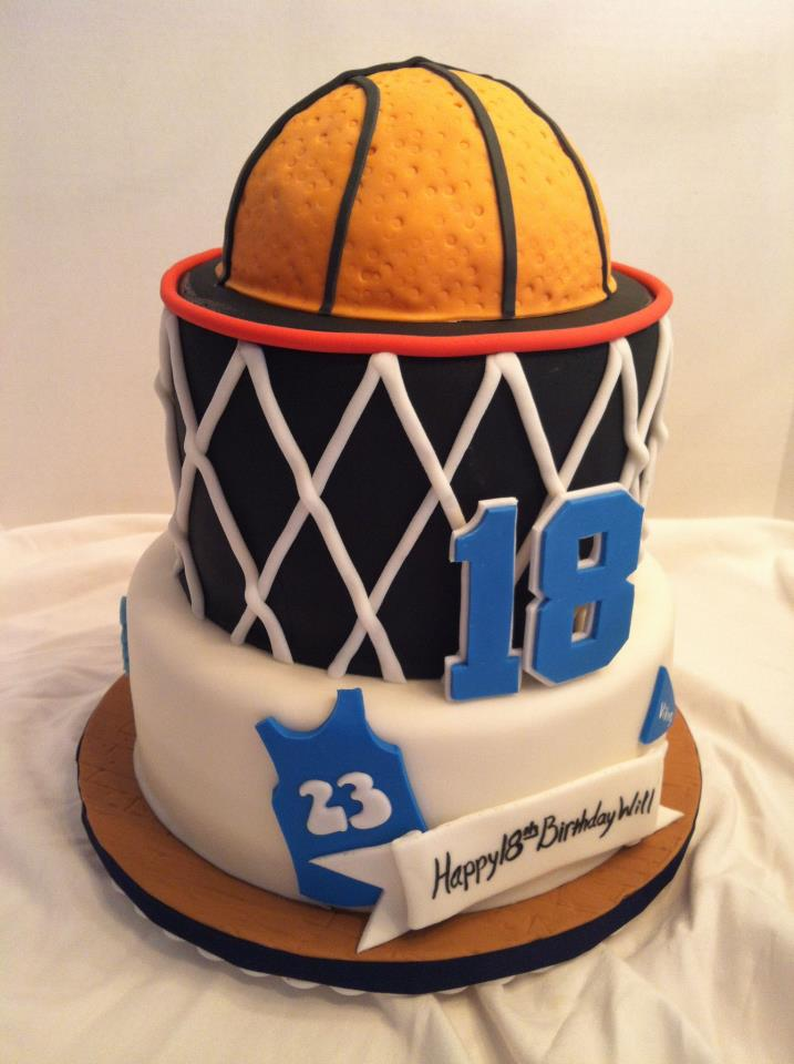 Birthday Cake For Basketball ~ Cakes by becky basketball birthday cake