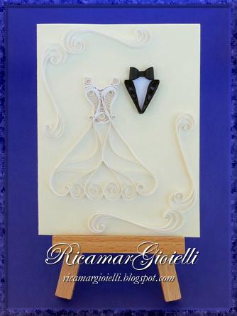 Quilling card matrimonio