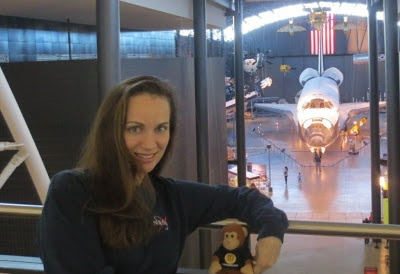 Heather with Space Shuttle Discovery