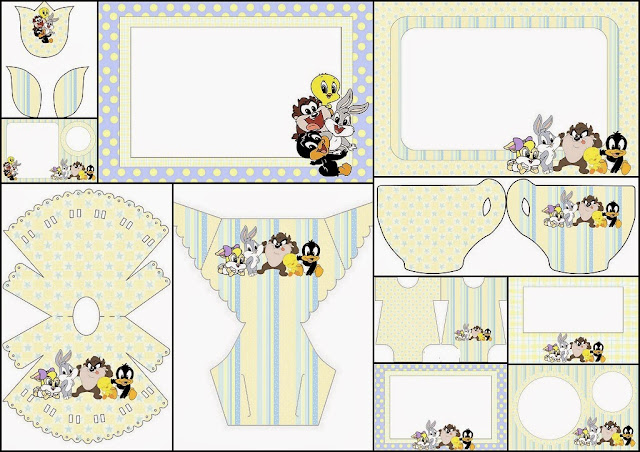 Lonney Tunes Babies: Free Printable Invitations.
