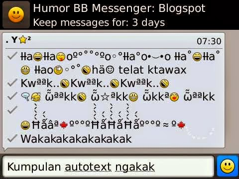 Auto Text BBM Lengkap Buat Kamu