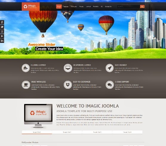iMagic Responsive Multi-Purpose Joomla Theme