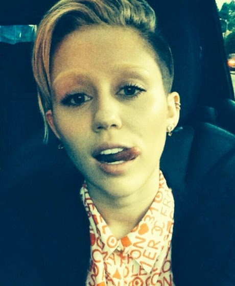 miley cyrus eyebrows