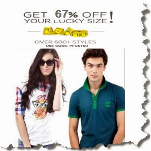 Buy Freecultr Men's Tees, Polos & Henley at FLAT 80% off & Extra Rs.100 PayUmoney Voucher.:buytoearn