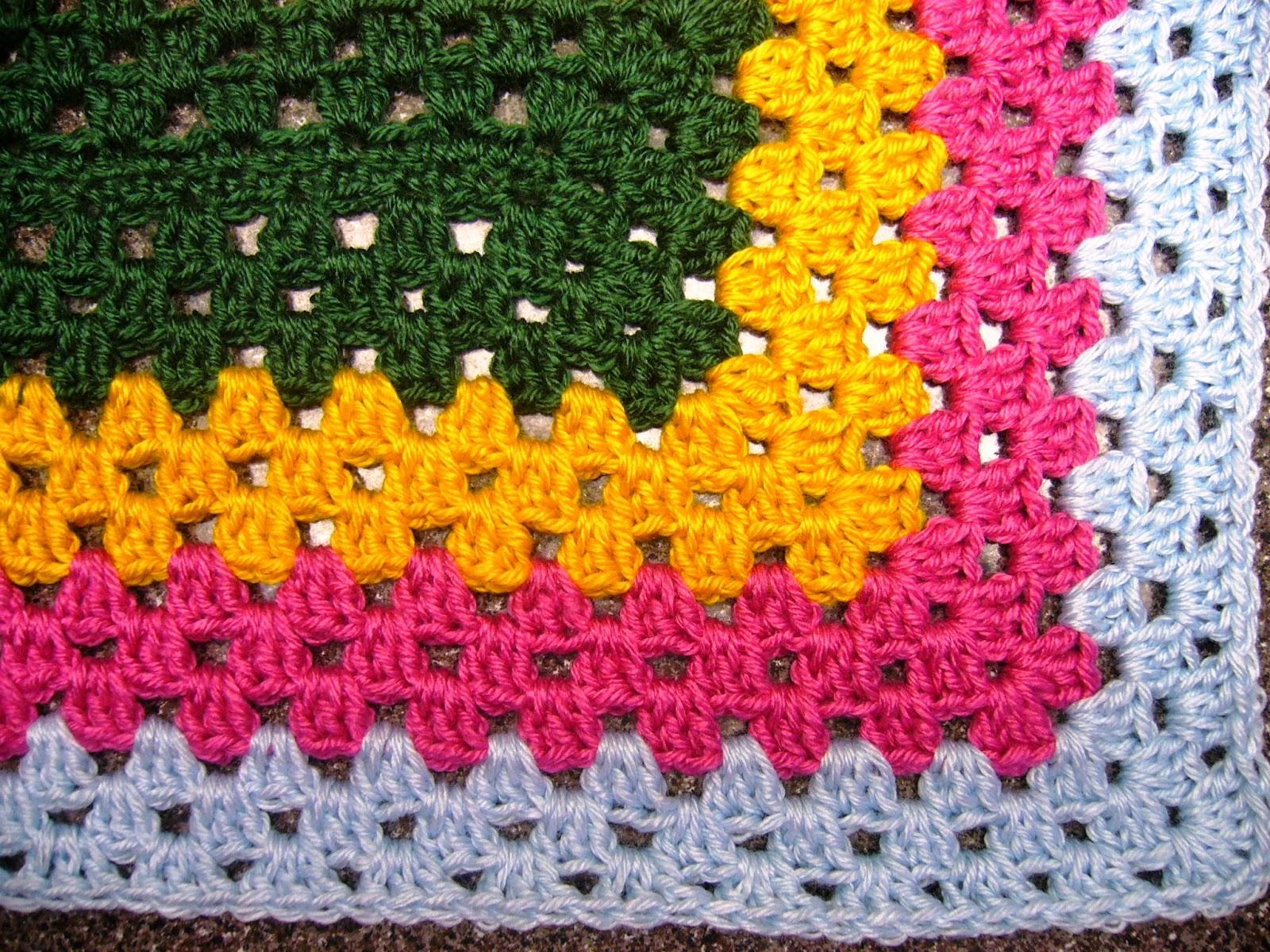 Granny square bitty blanket