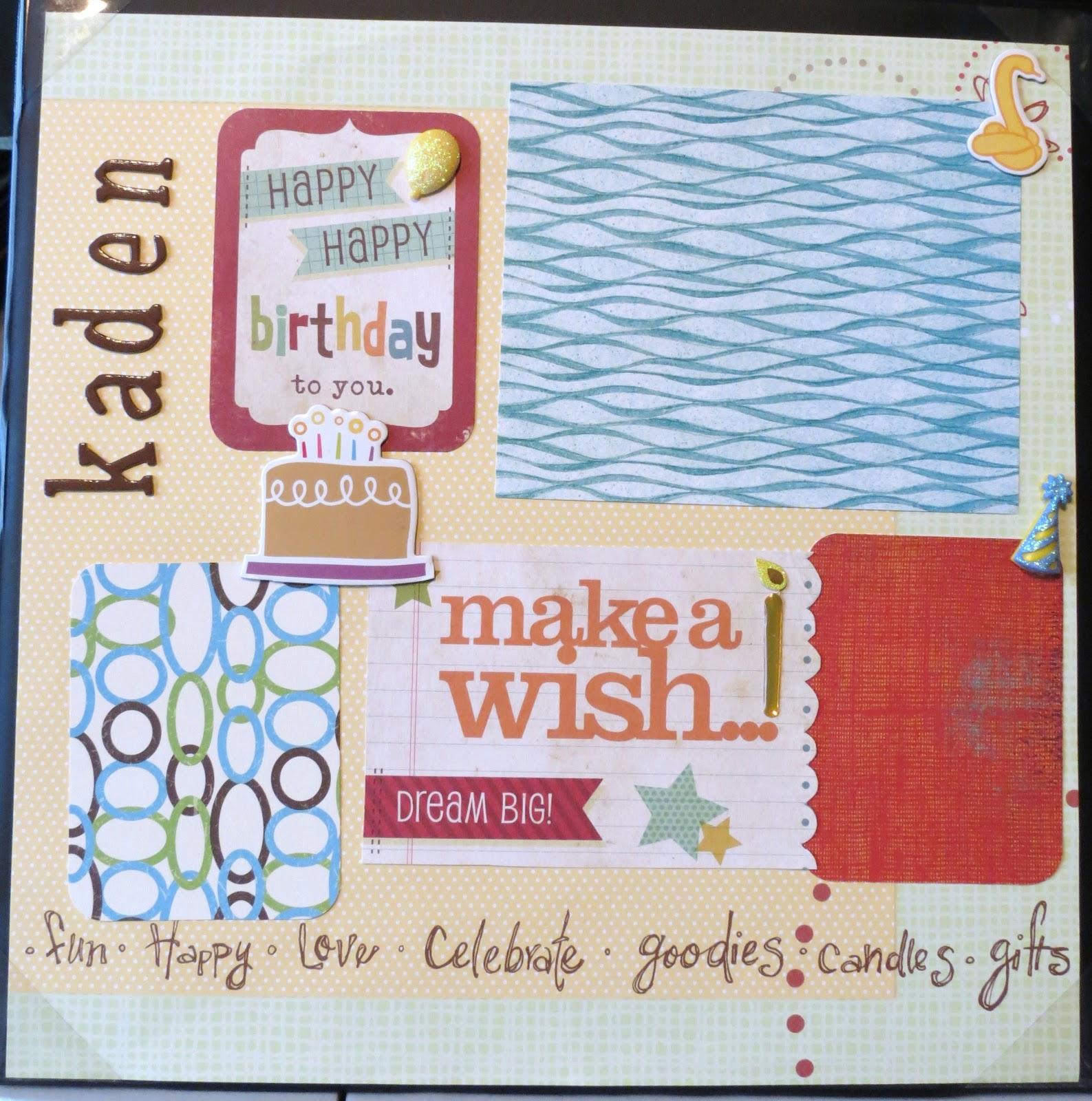 ... -Vie Designs Unltd., LLC: 1st Birthday Boy Layout - Instant Scrapbook