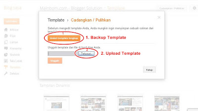 Cara Upload dan Backup Template Versi Blogger Terbaru