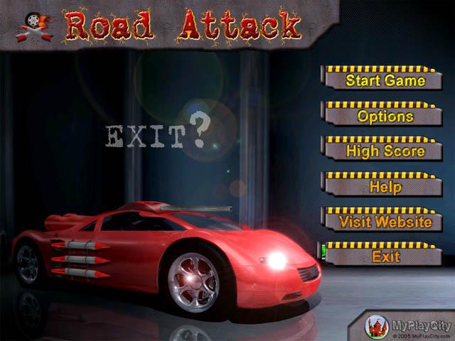 لعبة سيارات الموت Road Attack