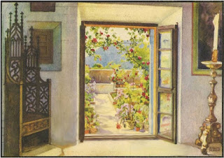 Chopin's Room at Valldemosa, Mallorca, Vintage Postcard, Maja Trochimczyk Collection