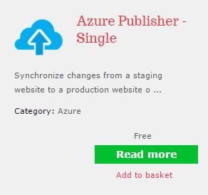 Бесплатная версия Azure Publisher для Composite C1 CMS
