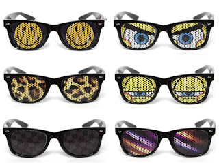 okulary z nadrukiem