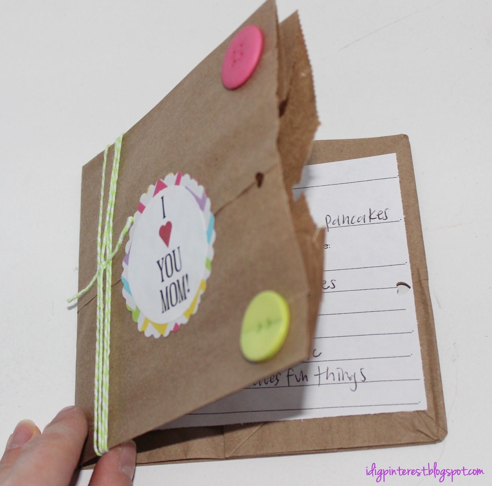 Book Cover Using Paper Bag ~ Mother s day paper bag pocket book i dig pinterest