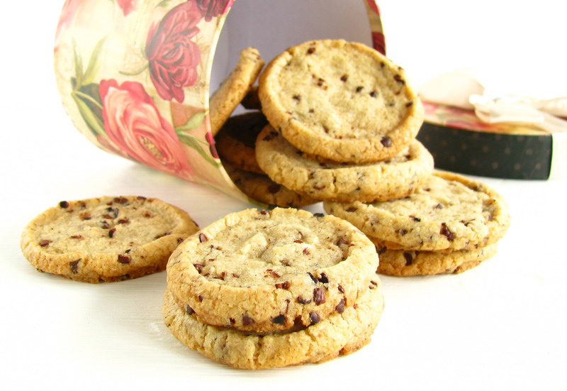 mushitza: Walnut Cocoa Nib Cookies