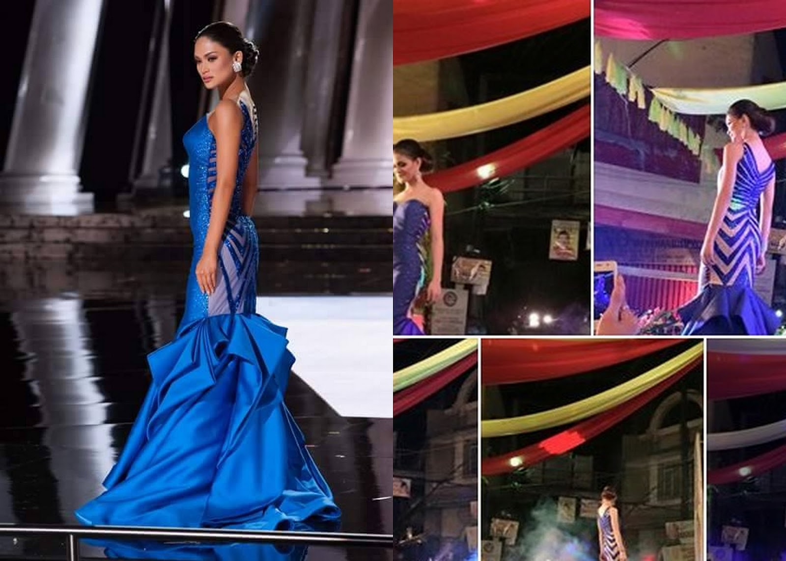 The replica blue gown of Miss Universe 2015 Pia Wurtzbach is spotted ...