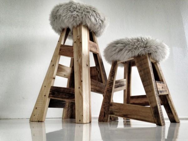 taburete de dise o hecho con palets. Black Bedroom Furniture Sets. Home Design Ideas