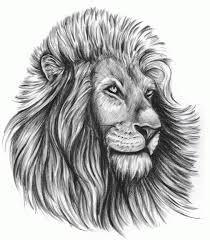 Motif Tato Singa Hitam Putih 13
