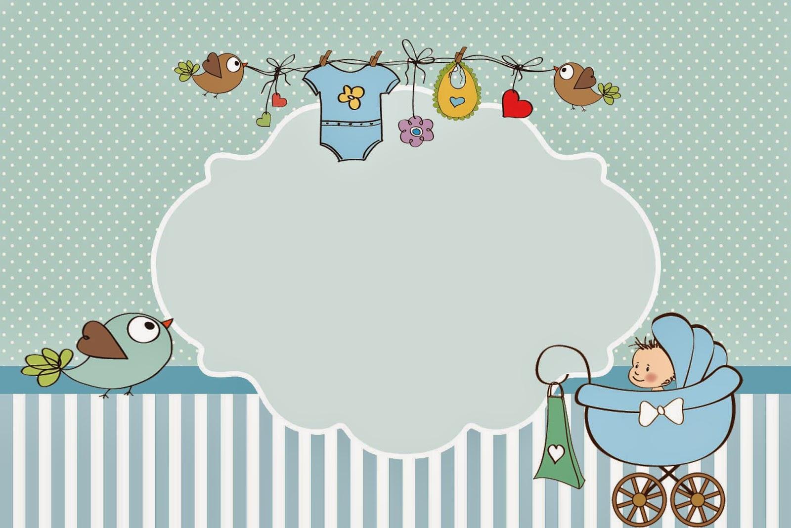 Cochecito celeste de beb invitaciones para imprimir - Ideas para bebes ...