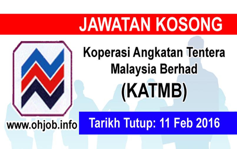 Jawatan Kerja Kosong Koperasi Angkatan Tentera Malaysia Berhad logo www.ohjob.info februari 2016