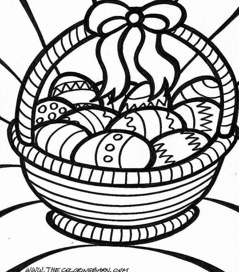 Printable Easter Coloring Pages moreover Free Printable Easter ...