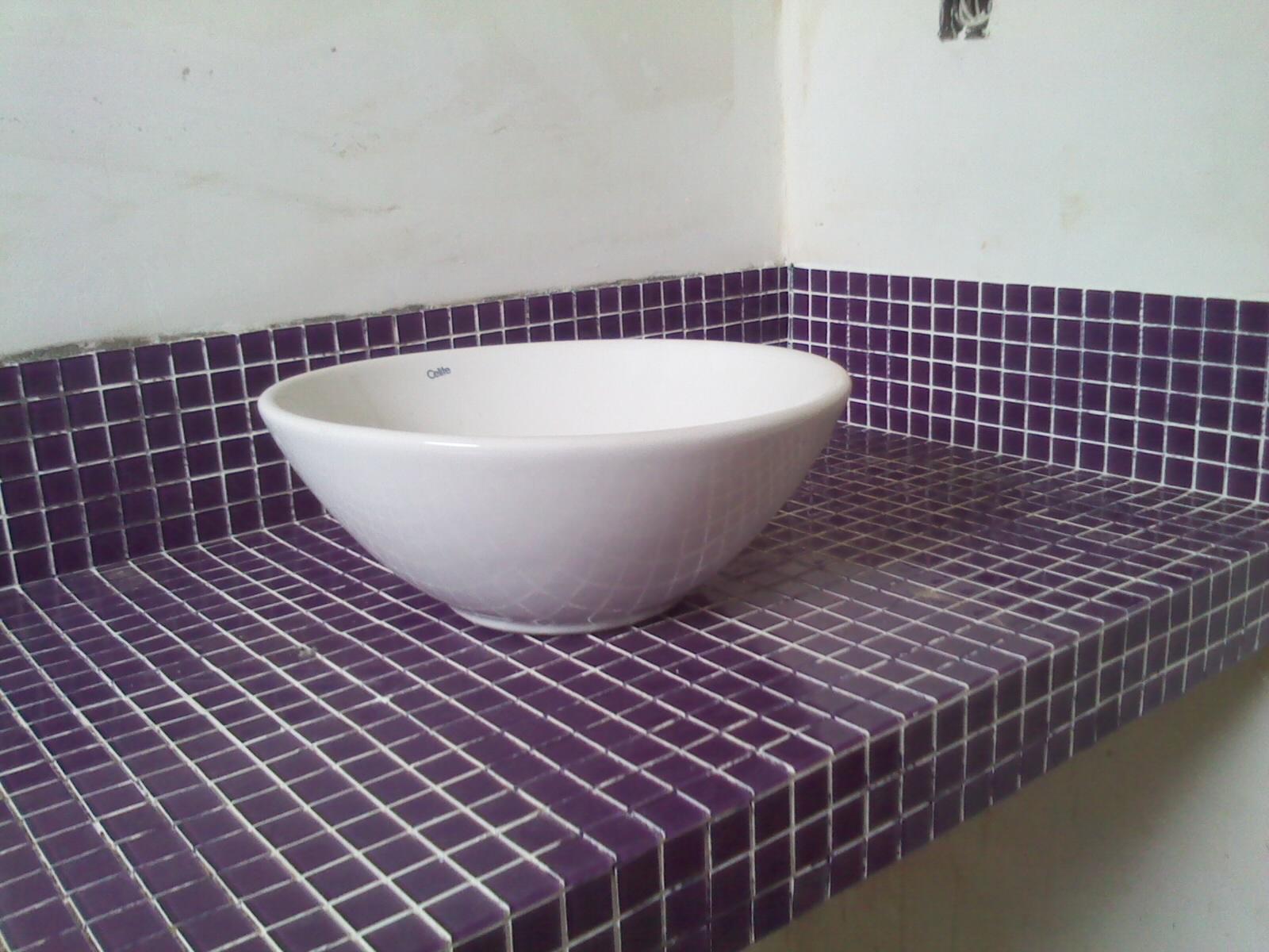 Nosso novo lar !! Bancada do banheiro  pastilha de vidro -> Bancada De Banheiro Com Pastilha De Vidro