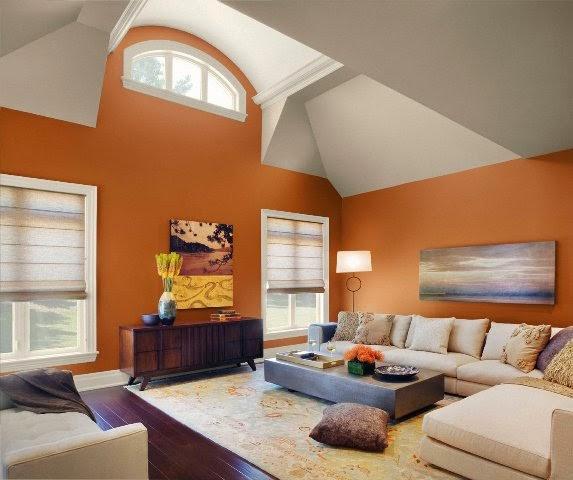 lorange fonc est plus connu comme la couleur de lnergie chaleureuse et confortable et avec le blanc vous permettra datteindre lquilibre parfait dans - Couleur Tendance Pour Interieur Maison