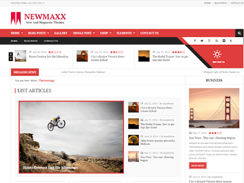 Download Tema WordPress News Maxx - Lite