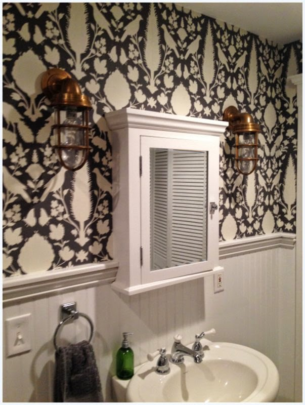 Vivid hue home atlanta grant park house tour kristie and for Schumacher chenonceau charcoal wallpaper