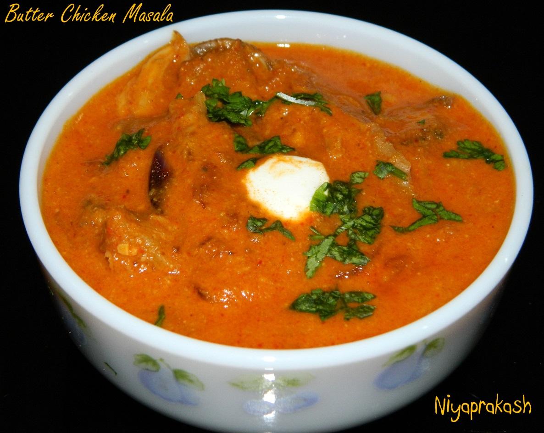 Niya's World: Butter Chicken Masala (made of homemade baked chicken)