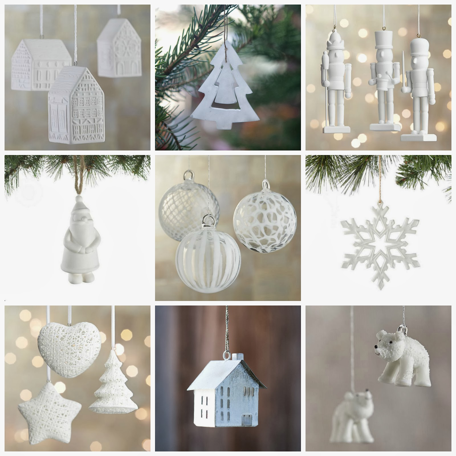 Ceramic snowflake ornaments - Ceramic House Ornaments Crate And Barrel