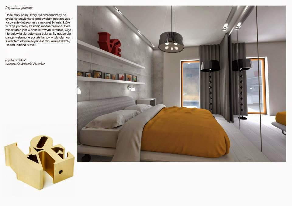 sypialnia w stylu NY