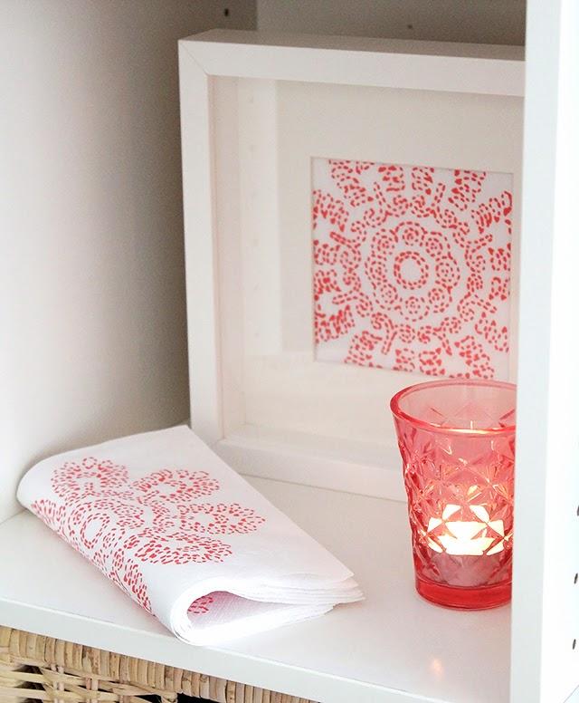 Mi rinc n de sue os usar servilletas como laminas para for Laminas para pared