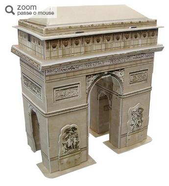 Quebra-Cabeça 3D Arco do Triunfo