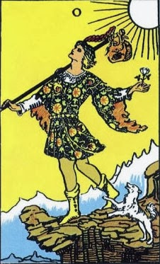 image of The Fool card of the Rider-Waite Tarot deck
