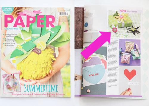 Annettes-atelier der atelierladen veröffentlichung Papierblüten