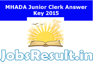 MHADA Junior Clerk Answer Key 2015