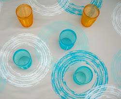 Mantel celeste / Aqua tableclot