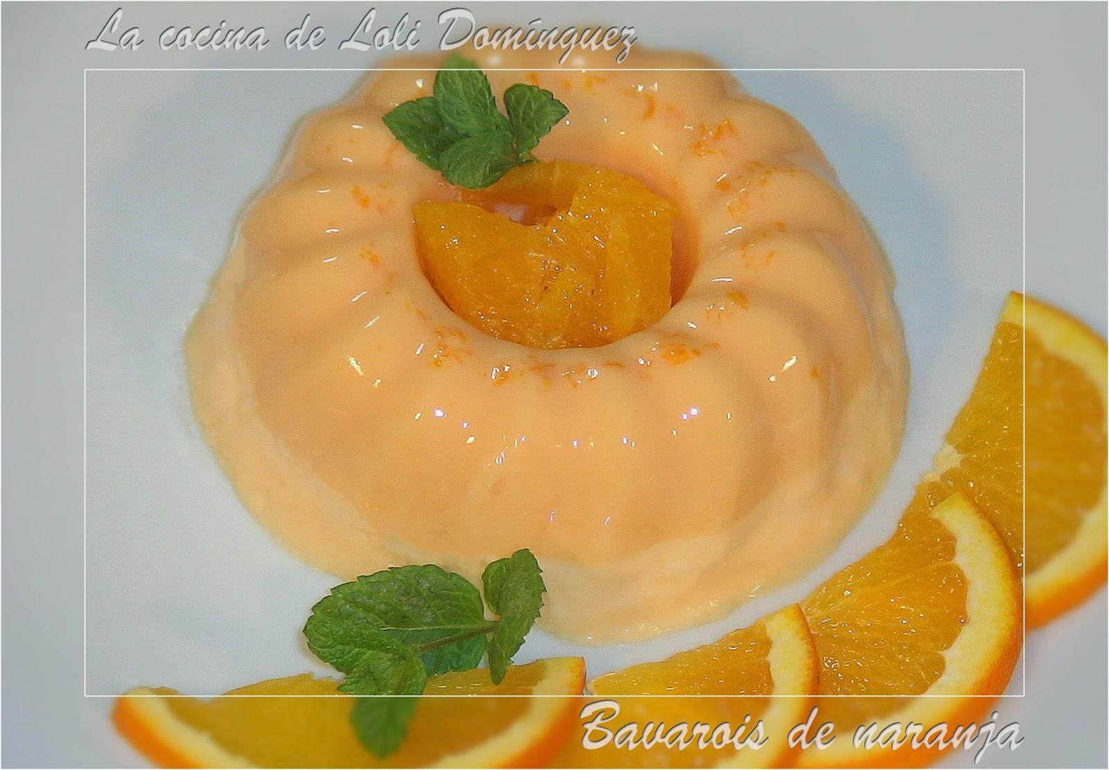 Bavarois de naranja