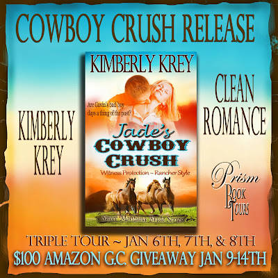 Jade's Cowboy Crush by Kimberly Krey – Triple Tour Guest Post and Giveaway