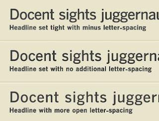 jarak spasi antar huruf font