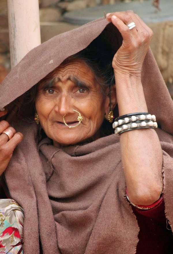 Portrait of a Rajasthani lady