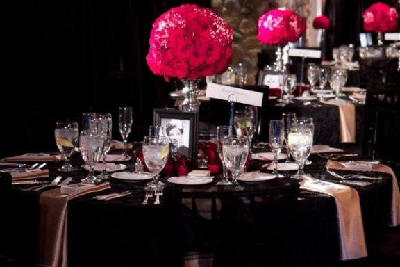 Black White Wedding Reception Ideas