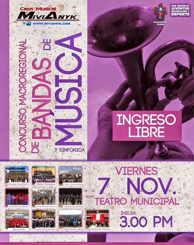 Concurso MacroRegional de bandas de Música - 07 de noviembre