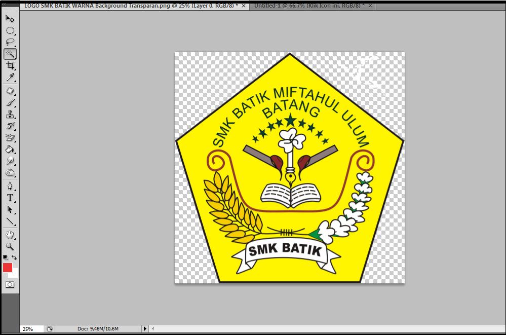 ... selanjutnya klik pada warna yang mau di hapus seperti contoh di bawah